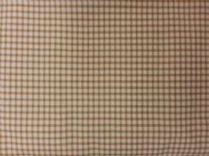 CLASSIC BEIGE GINGHAM FABRIC - Cotton - Price Per Metre